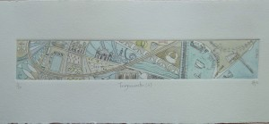 Teignmouth (ii) Hand tinted drypoint