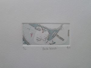 Back beach  9cm x 4cm