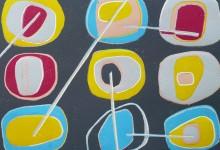 Circle (i) lino cut print