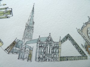 Salisbury Cathedral close up