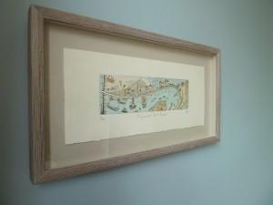 Teignmouth Back Beach framed