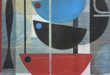 On the moorings. Oil and acrylic on wood panel. 25 x 25cm. Available at the Dart Gallery, Dartmouth